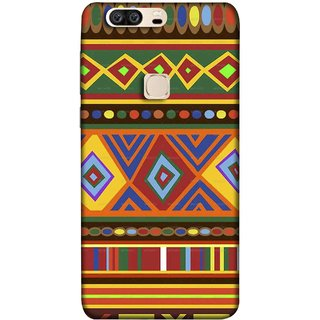 FUSON Designer Back Case Cover For Huawei Honor V8 (Tribal Patterns Colourful Eye Catching Verity Different )