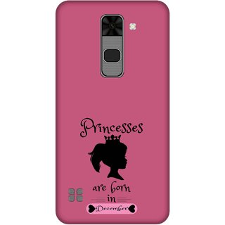 Print Opera Hard Plastic Designer Printed Phone Cover for  Lg Stylus 2 Princess are born in december
