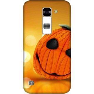 Print Opera Hard Plastic Designer Printed Phone Cover for  Lg K7 Cute halloween pumpkin