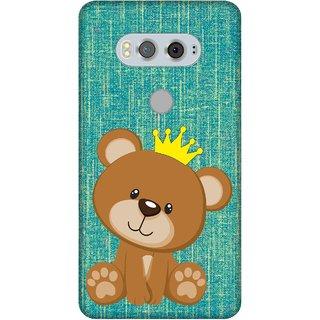 Print Opera Hard Plastic Designer Printed Phone Cover for  Lg V20 crown Teddy bear