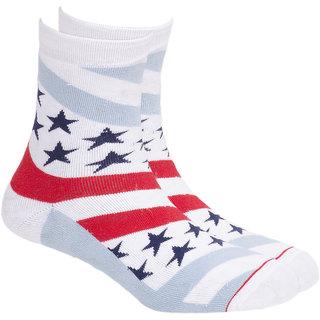 Soxytoes Sport Stars  Stripes Ankle Length Men's Cotton Socks 1 Pair