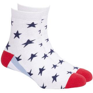 Soxytoes Sport Stars Ankle Length Men's Cotton Socks 1 Pair