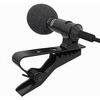 SCORIA Mini Lavalier Lapel Mic Microphone for PC Computer Laptop Gaming Sound Recording