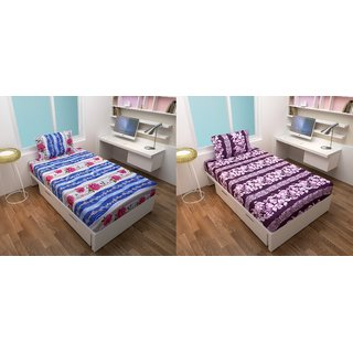Choco Creation Ahmdabad Cotton Bedsheet Single Pack Of 2