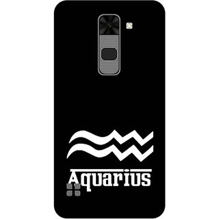 Print Opera Hard Plastic Designer Printed Phone Cover for  Lg Stylus 2 Aquarius black & white