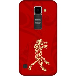 Print Opera Hard Plastic Designer Printed Phone Cover for Lg K10 Artistic tiger golden