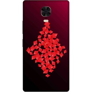 Print Opera Hard Plastic Designer Printed Phone Cover for Gionee M6 Plus Diamonds with red gradient