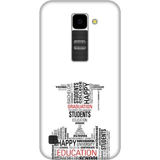 Print Opera Hard Plastic Designer Printed Phone Cover for Lg K10 Typography student vector in black and white