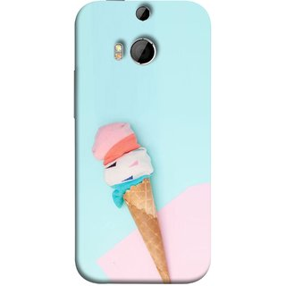 FUSON Designer Back Case Cover For HTC One M8 :: HTC M8 :: HTC One M8 Eye :: HTC One M8 Dual Sim :: HTC One M8s (Colourful Ice Cream Toy Baby Babies Chilling)