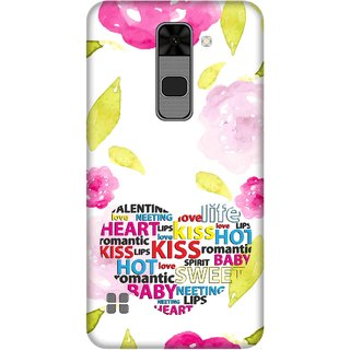 Print Opera Hard Plastic Designer Printed Phone Cover for  Lg Stylus 2 Flowers with hearts