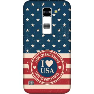 Print Opera Hard Plastic Designer Printed Phone Cover for  Lg K7 I love USA