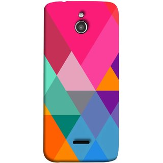 FUSON Designer Back Case Cover For InFocus M2 (Abstract Painting Colored Triangles Acrylic Painting)