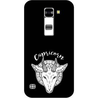 Print Opera Hard Plastic Designer Printed Phone Cover for  Lg K7 Capricorn black & white