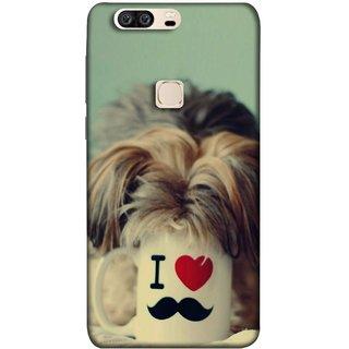 FUSON Designer Back Case Cover For Huawei Honor V8 (Dog Baby Coffee Breakfast Tea Best Morning Loyal )