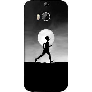 FUSON Designer Back Case Cover For HTC One M8 :: HTC M8 :: HTC One M8 Eye :: HTC One M8 Dual Sim :: HTC One M8s (Halloween Vector Illustration Background Full Moon )