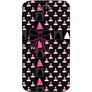 FUSON Designer Back Case Cover For Huawei Honor Holly 2 Plus :: Huawei Honor 2 Plus (Hat Clip Art Christmas Tree Gifts For Winter Design)