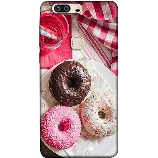 FUSON Designer Back Case Cover For Huawei Honor V8 (Glazed Donuts Sweet Desserts Party Cold Soft Drink)