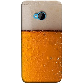 FUSON Designer Back Case Cover For HTC M7 :: HTC One M7 (Cold Chilled Beer Glass Tub Pint Bubbles Full)