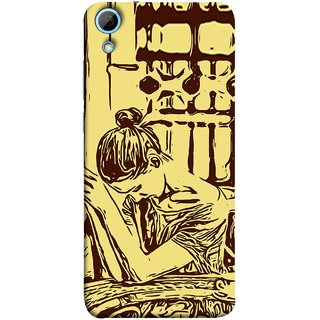 FUSON Designer Back Case Cover For HTC Desire 828 Dual Sim (Photo Upset Hotel Club Hands Together Pub Thinking)
