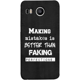 FUSON Designer Back Case Cover For LG Nexus 5X :: LG Google Nexus 5X New (Motivational Inspirational Saying Quotes Words Big)