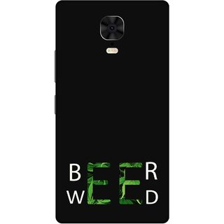 Print Opera Hard Plastic Designer Printed Phone Cover for Gionee M6 Plus Beer weed green