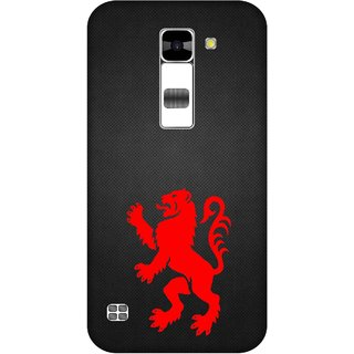 Print Opera Hard Plastic Designer Printed Phone Cover for  Lg K7 Red lion art design