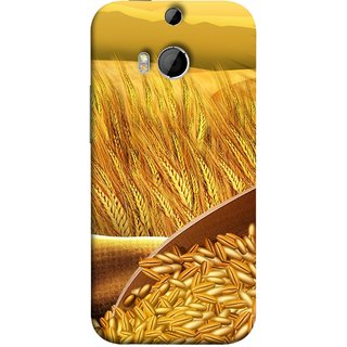 FUSON Designer Back Case Cover For HTC One M8 :: HTC M8 :: HTC One M8 Eye :: HTC One M8 Dual Sim :: HTC One M8s (Wheat Farmers Farms Morning Sunlight Bright Day)