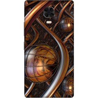 Print Opera Hard Plastic Designer Printed Phone Cover for Gionee M6 Plus Artistic brown metal design