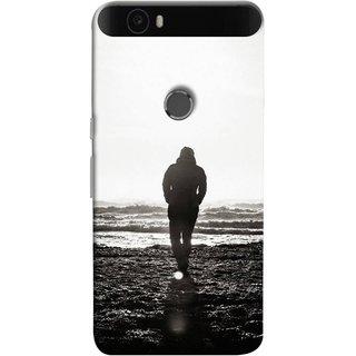 FUSON Designer Back Case Cover For Huawei Nexus 6P :: Huawei Google Nexus 6P (Alone Searching Love Broken Breakup Sunshine )