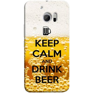 FUSON Designer Back Case Cover For HTC 10 :: HTC One M10 (Beer Sign Glasses Bubbles Daaru Drink Wine Vodka)
