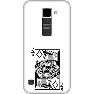 Print Opera Hard Plastic Designer Printed Phone Cover for Lg K10 King of cards black and white