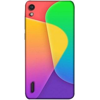 FUSON Designer Back Case Cover For Huawei Ascend P7 (Gliding Mobile Wallpaper Floral Patterns Shining Dark Patterns)