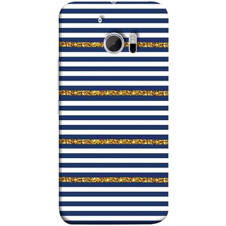 FUSON Designer Back Case Cover For HTC 10 :: HTC One M10 (Spacing Golden Canvas Painting Ceramic Tiles)