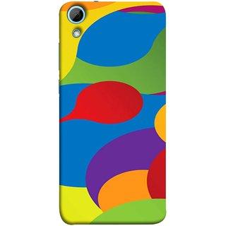 FUSON Designer Back Case Cover For HTC Desire 828 Dual Sim (Gliding Mobile Wallpaper Floral Patterns Shining Dark Patterns)