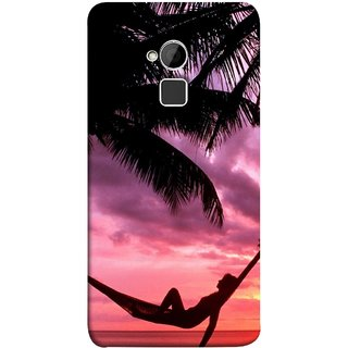 FUSON Designer Back Case Cover For HTC One Max :: HTC One Max Dual SIM (Sunset Beach Hammock Chillout Wallpapers Palmtrees)