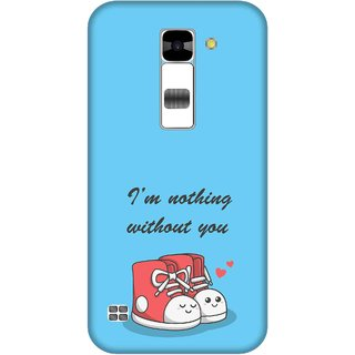 Print Opera Hard Plastic Designer Printed Phone Cover for  Lg K7 I am nothing without you