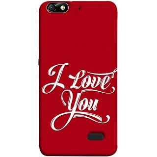 FUSON Designer Back Case Cover For Huawei Honor 4C :: Huawei G Play Mini (I Love You Always Lovers Valentine Hearts Kiss )