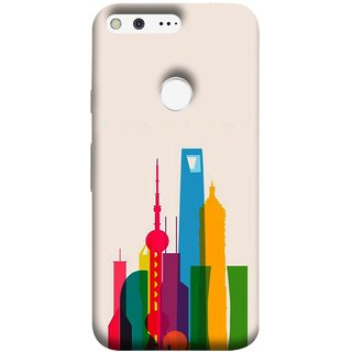 FUSON Designer Back Case Cover For Google Pixel XL (Astounding Skyscrapers Of Remarkable Architectural)