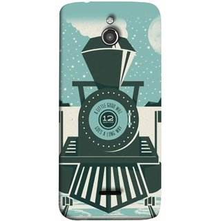 FUSON Designer Back Case Cover For InFocus M2 (Train Engine Smoke Little Good Will Goes Long Way)