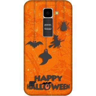 Print Opera Hard Plastic Designer Printed Phone Cover for Lg K10 Happy halloween orange background