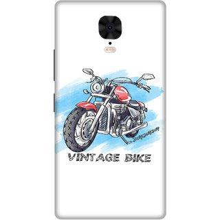 Print Opera Hard Plastic Designer Printed Phone Cover for Gionee M6 Plus Vintage bike
