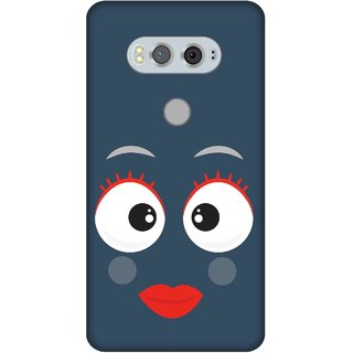 Print Opera Hard Plastic Designer Printed Phone Cover for  Lg V20 Smiling face red and white