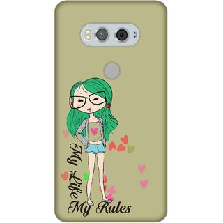 Print Opera Hard Plastic Designer Printed Phone Cover for  Lg V20 My life my rules