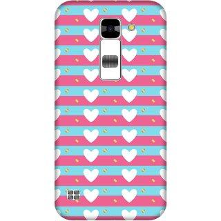 Print Opera Hard Plastic Designer Printed Phone Cover for  Lg K7 Beautiful hearts in rows