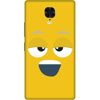Print Opera Hard Plastic Designer Printed Phone Cover for Gionee M6 Plus Smiling face yellow