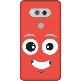 Print Opera Hard Plastic Designer Printed Phone Cover for  Lg V20 Smiling face lite red