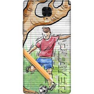 Print Opera Hard Plastic Designer Printed Phone Cover for Gionee M6 Plus Sketch art football