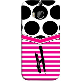 FUSON Designer Back Case Cover For HTC One M9 Plus :: HTC One M9+ :: HTC One M9+ Supreme Camera (Beautiful Cute Nice Couples Pink Design Paper Girly H)