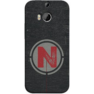 FUSON Designer Back Case Cover For HTC One M9 Plus :: HTC One M9+ :: HTC One M9+ Supreme Camera (N Is Ok Initial Red Glossy Round Icon N Random Red)