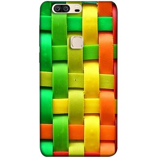 FUSON Designer Back Case Cover For Huawei Honor V8 (Bright And Beautiful Colour Strips And Band Wave )